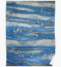 Greek Blue Fishing Nets Poster