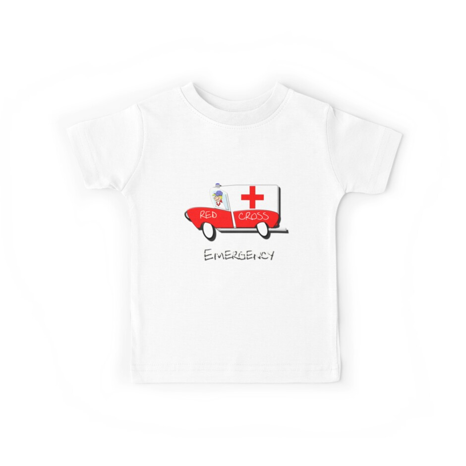 Red Cross Truck - Emergency T-shirt by Dennis Melling