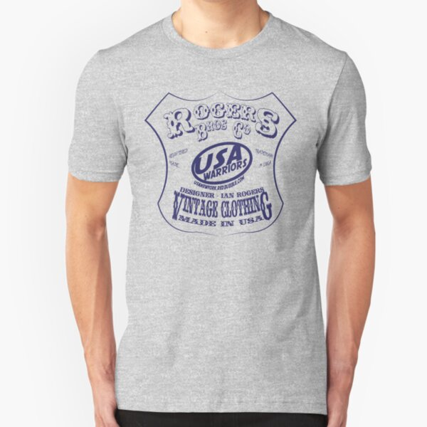 usa warriors indian by rogers bros Slim Fit T-Shirt