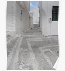 Greek Island empty alley Poster