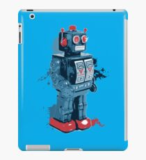 Blue Toy Robot Splattery Shirt iPad Case/Skin