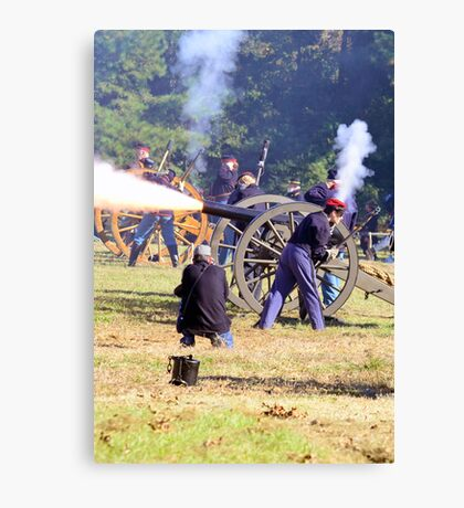 The Battle Of Sucessionville As the Canon went off Canvas Print