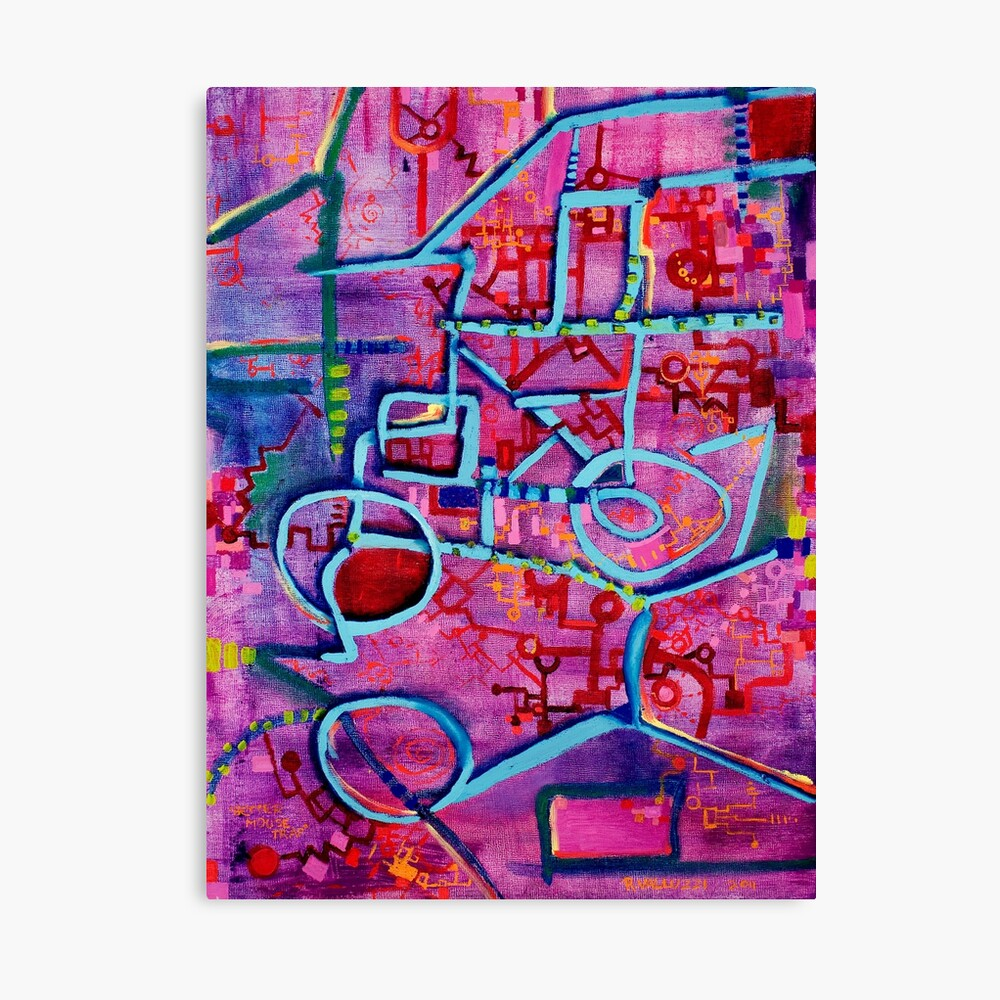 Better Mousetrap, Original Oil Painting by Regina Valluzzi Canvas Print