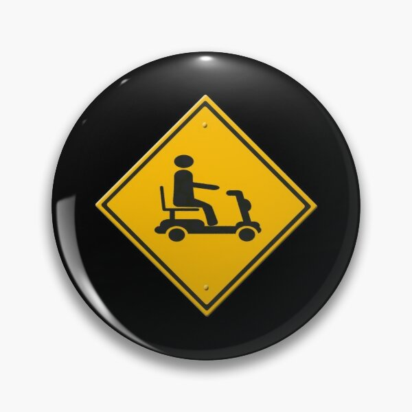 Warning sign mobility scooter Pin