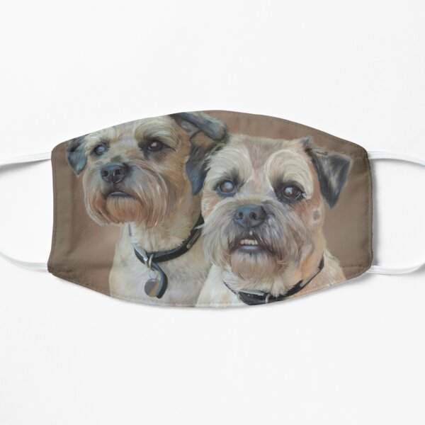 Two Border Terriers Dogs Mask