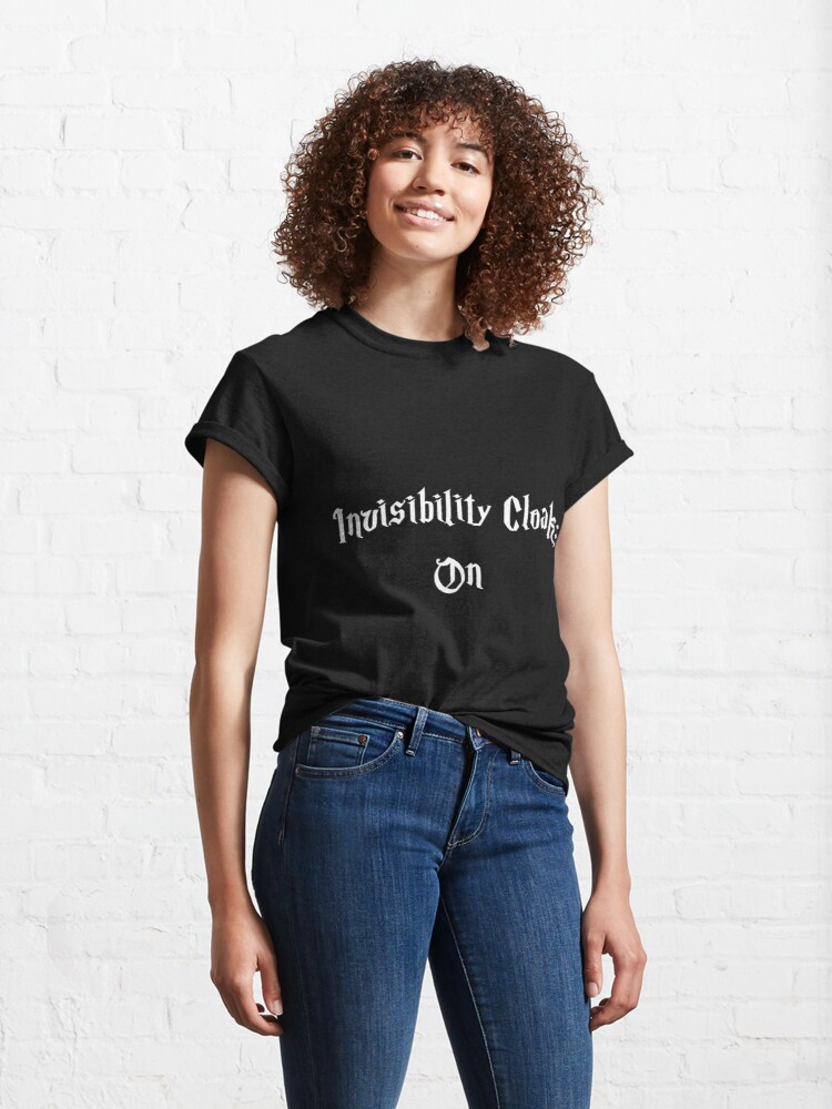 Alternate view of Invisibility Cloak On Black Classic T-Shirt