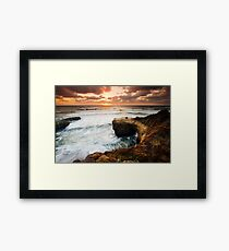 Picnic Romance at Sunset Cliffs San Diego Framed Print