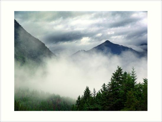 Mountain In The Mist- Mt. Terry Fox by Jann Ashworth