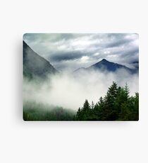 Mountain In The Mist- Mt. Terry Fox Canvas Print