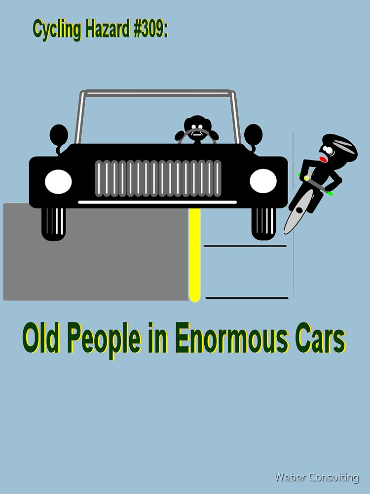 Cycling Hazards - Oldsters in big cars by HalfNote5