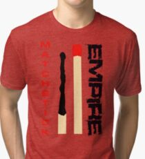 Matchstick Empire - Red and Black Tri-blend T-Shirt