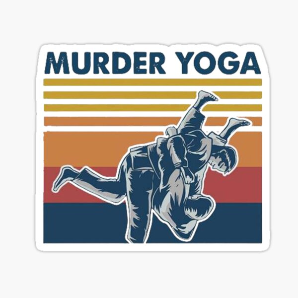 Murder Yoga Vintage Sticker