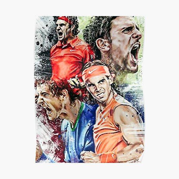Oeuvre de légendes de tennis Poster