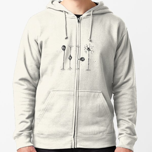 Four types of neurons Zipped Hoodie