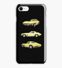 Yellow 1967 Corvette Stingray iPhone Case/Skin