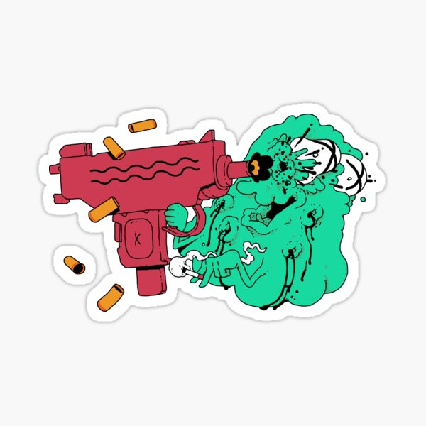 Ghost VS Uzi Sticker