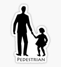 Pedestrians Sticker