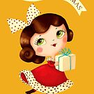 Cute Vintage Christmas Girl by colonelle