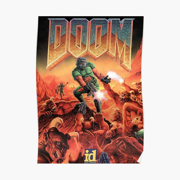 DOOM GAME BOX COVER Poster