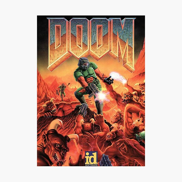 DOOM GAME BOX COVER Photographic Print