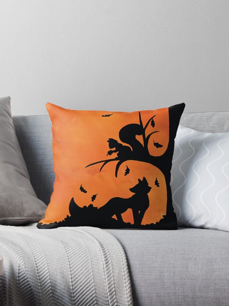 Woodland Shadows - Fox and Squirrel:Autumn by artemissart