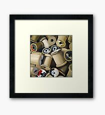 Sewing Time - realistic sewing thread spools Framed Print