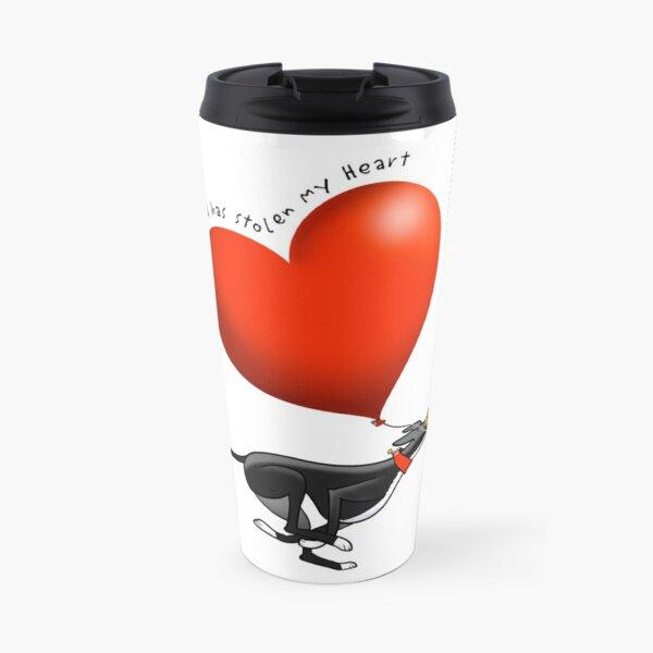 Stolen Heart - black hound Travel Mug