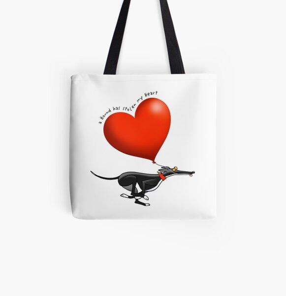 Coeur volé - chien noir Tote bag doublé