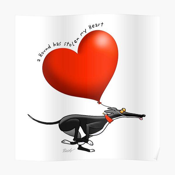 Stolen Heart - black hound Poster