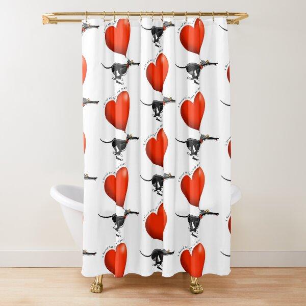 Stolen Heart - black hound Shower Curtain