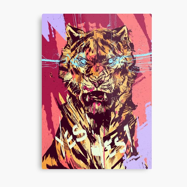 The tiger is out  Metal Print