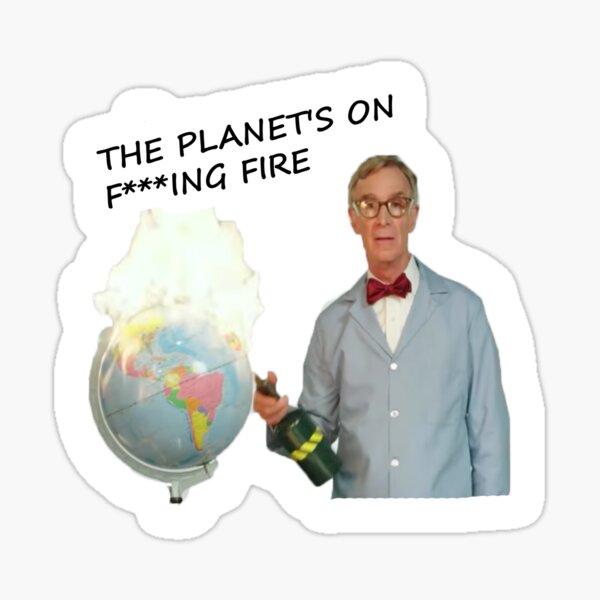 Angry Bill Nye Sticker