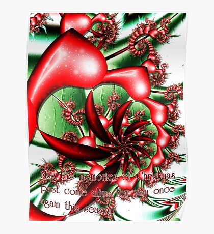 Christmas Memories card Poster