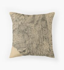 Wisent II (European Bison) Throw Pillow
