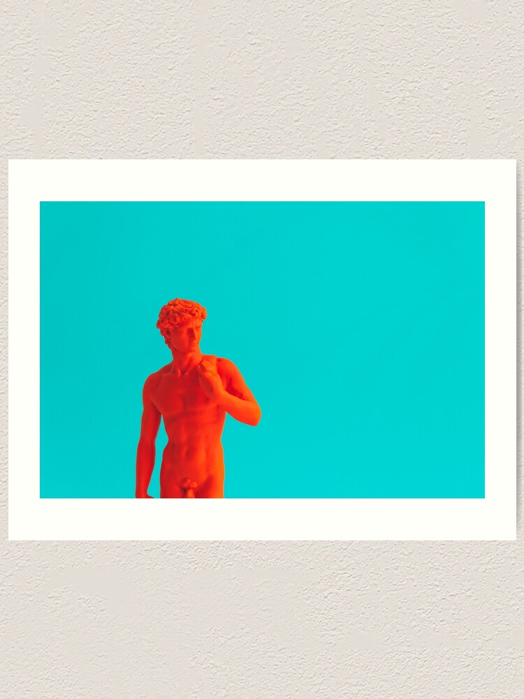 Alternate view of Orange antique sculpture  Art Print