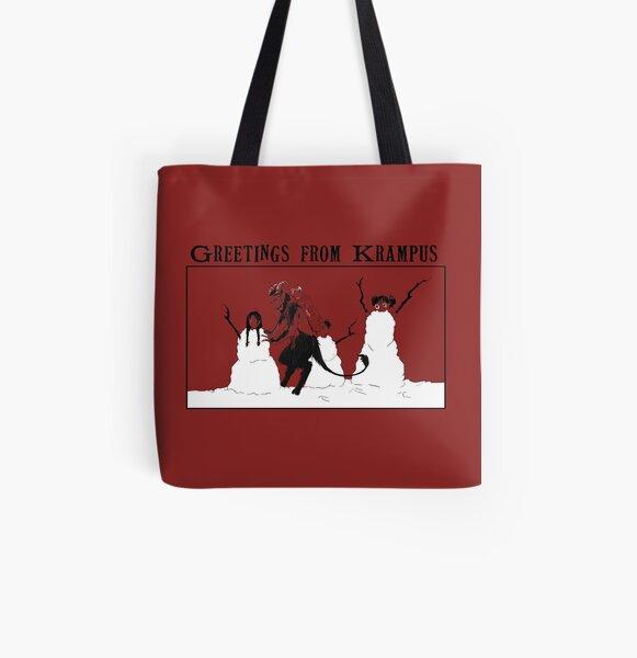 White Krampusnacht All Over Print Tote Bag