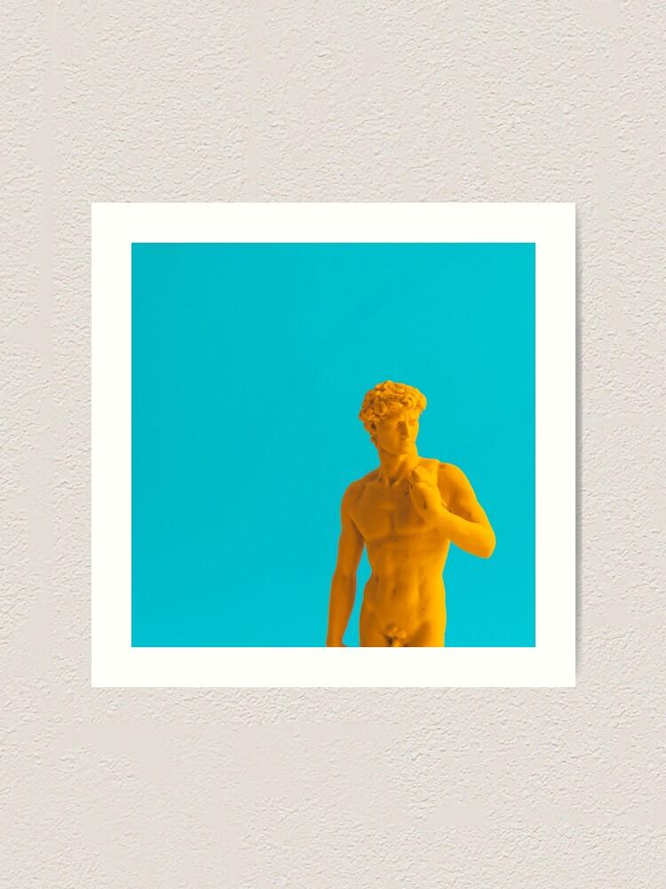 Alternate view of Yellow neon statue Art Print
