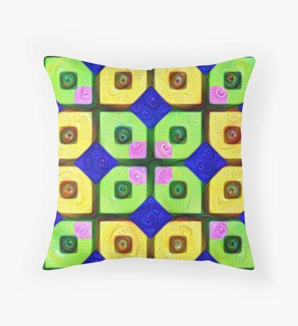 #DeepDream Color Squares Visual Areas 5x5K v1448352654 Throw Pillow