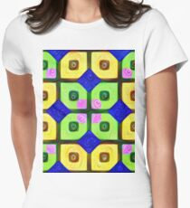 #DeepDream Color Squares Visual Areas 5x5K v1448352654 Fitted T-Shirt