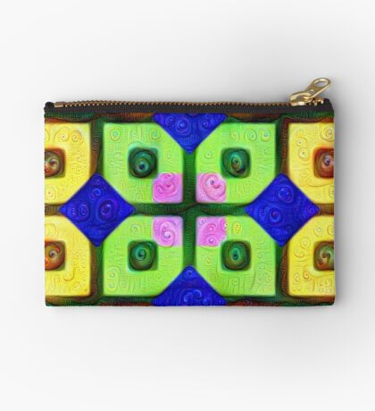 #DeepDream Color Squares Visual Areas 5x5K v1448352654 Zipper Pouch