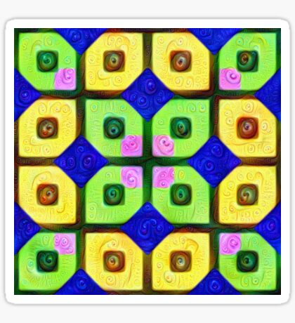 #DeepDream Color Squares Visual Areas 5x5K v1448352654 Sticker