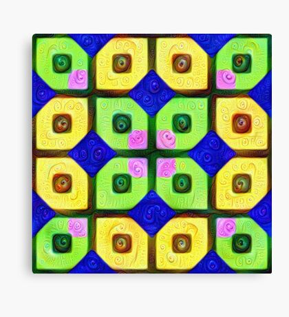 #DeepDream Color Squares Visual Areas 5x5K v1448352654 Canvas Print