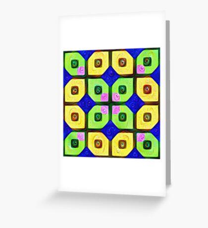 #DeepDream Color Squares Visual Areas 5x5K v1448352654 Greeting Card