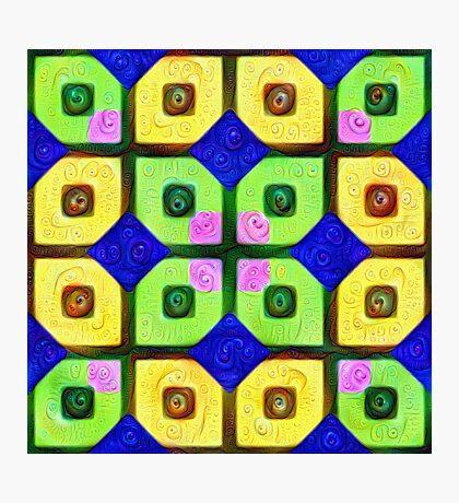 #DeepDream Color Squares Visual Areas 5x5K v1448352654 Photographic Print