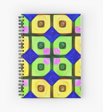 #DeepDream Color Squares Visual Areas 5x5K v1448352654 Spiral Notebook