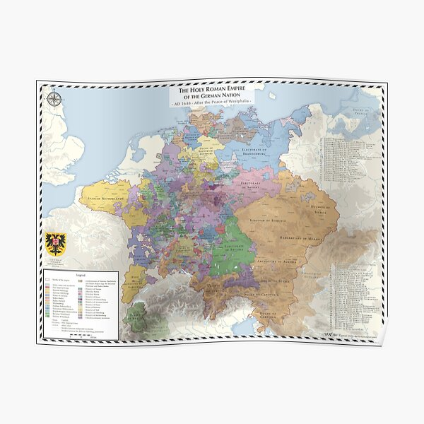 Holy Roman Empire - AD 1648 Poster