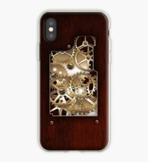 Brass and wood Steampunk cover iPhone Case