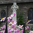 Windflowers - St Mary's Church, Brecon, Wales by Marilyn Harris