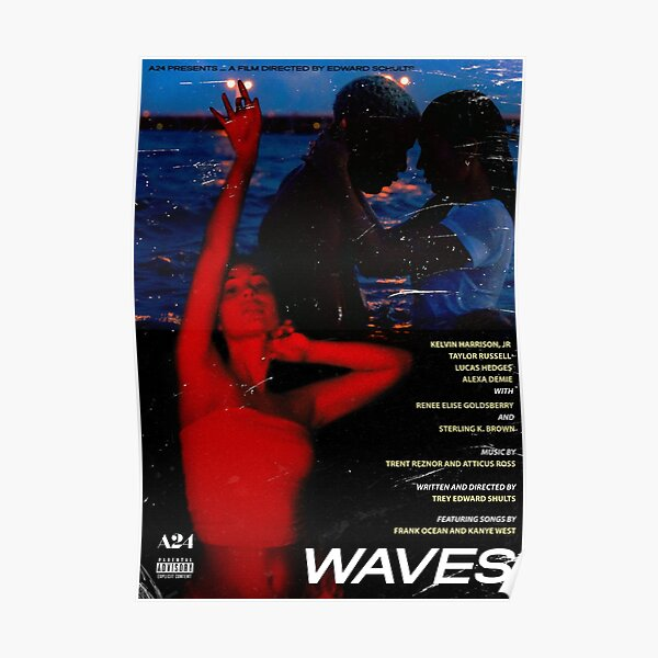 Waves - A24 Movie Poster Poster