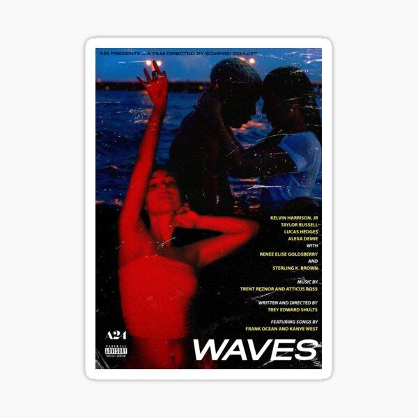 Waves - A24 Movie Poster Sticker
